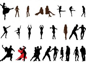 sagome di ballerini – dancer sillhouette