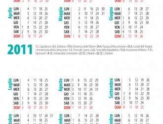calendario 2011 tascabile – poket calendar 2011