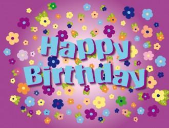 buon compleanno floreale – floral happy birthday