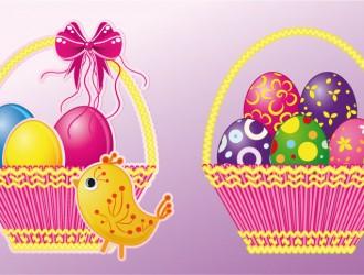 cesto con uova di Pasqua – basket with Easter eggs