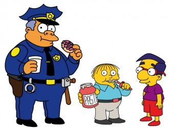 commissario Winchester, Ralph Winchester, Milhouse Van Houten – chief Clancy Wiggum, Ralph Wiggum
