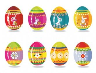 uova di Pasqua decorate – decorated Easter Eggs