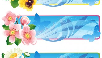 banner floreali – floral banners