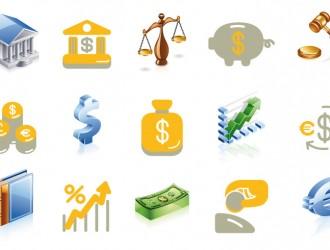 icone finanza e giustizia – finance and justice icons