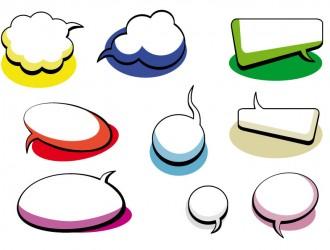 nuvolette fumetti – cartoon clouds