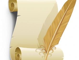 pergamena con piuma – old paper with feather