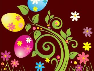 uova di Pasqua e fiori – Easter eggs and flowers