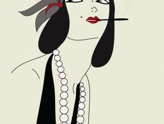 donna che fuma – smoking woman