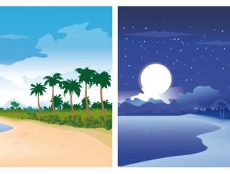 spiaggia giorno e notte – beach day and night