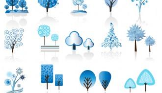 alberi stilizzati blu – blue stylized tree