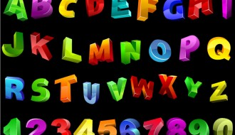 alfabeto e numeri – alphabet and numbers