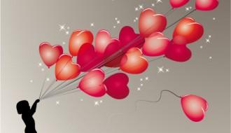 bambino con cuori – child with hearts