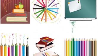 libri, colori, lavagna – books, pencils, blackboard