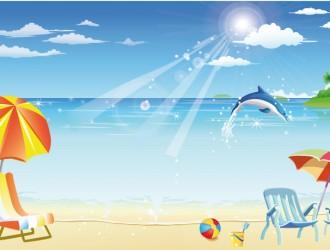 spiaggia con delfino – beach with a dolphin