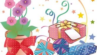 vaso di fiori e scatole regalo – vase of flowers and gift boxes