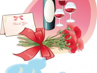 bottiglia, bicchieri vino, fiori, tazze caffè, cioccolatini – bottle, wine glasses, flowers, coffee mugs, chocolates