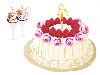 torta di compleanno con gelati – birthday cake and ice cream
