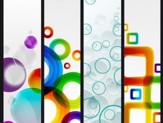 banner geometrici – geometric banner