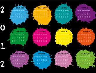 calendario 2012 macchie d'inchiostro – calendar 2012 ink blots