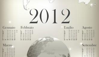 calendario 2012 mondo – calendar 2012 world