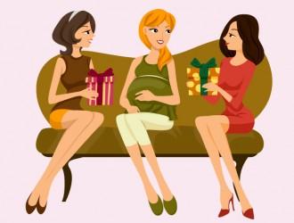 donna incinta con amiche – pregnant woman with friends