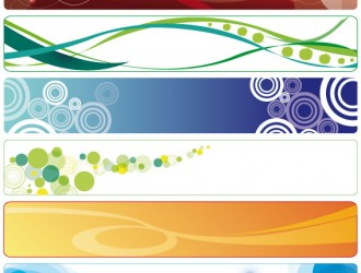 banner orizzontali astratti – horizontal abstract banner