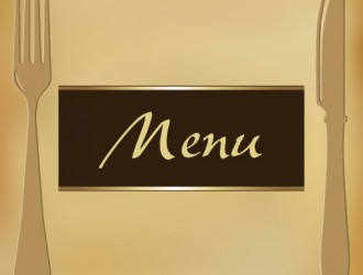 menu con posate – menu with cutlery
