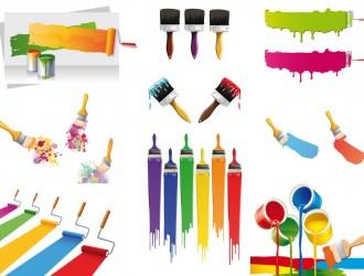 vernici, colori, pennelli – paint cans, colors, brushes