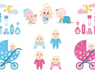set per bambini – baby vector stock_1