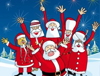 Babbo Natale set multietnico – Santa Claus multiethnic