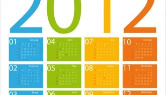 calendario 2012 inglese – english calendar 2012