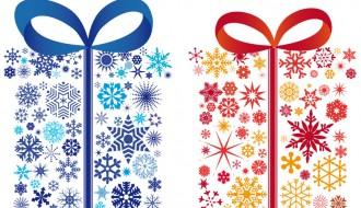 regali con fiocchi di neve – gifts with snowflake
