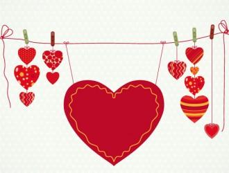cuori stesi – hanging hearts