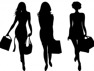 3 sagome donne – shopping women