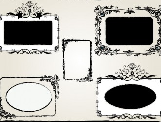 5 cornici decorate – ornament frame