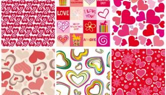6 pattern cuori – hearts pattern