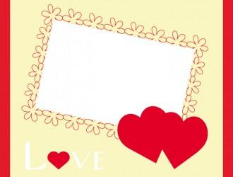 biglietto cuori e fiori – hearts and flowers love cards