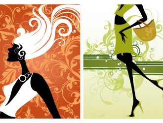 2 sagome ragazze – girls silhouette