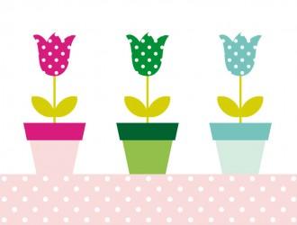 3 vasi di fiori – vases with flowers