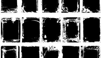15 cornici grunge – grunge bordes frames
