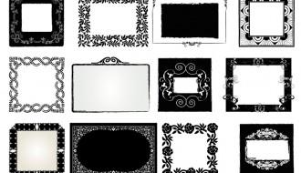 16 cornici decorate – decorated frames
