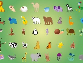 40 animali – animals set
