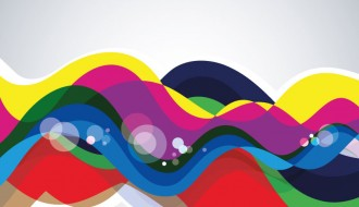 sfondo onde colorate – colorful waves background
