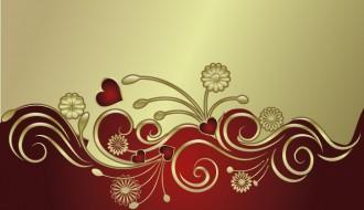 decorazione fiori oro – gold flowers ornament