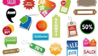 etichette saldi – different sale labels