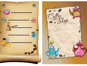 menu caffè antichizzati – old coffee menu
