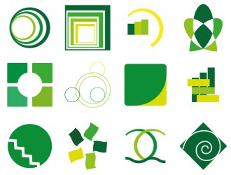 12 loghi verdi – 12 green logotypes