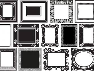 13 cornici in bianco e nero – white and black frames