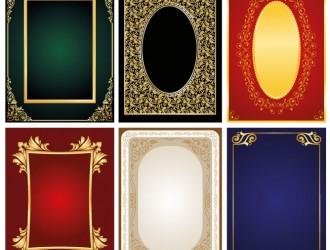 6 cornici decorative – 6 ornamental frames