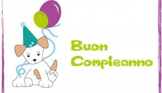 buon compleanno cane – dog happy birthday